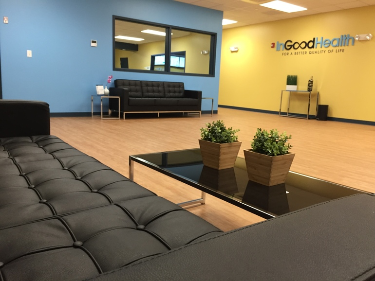 Lobby at In Good Health Brockton Dispensary - In Good Health