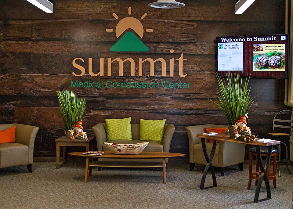 Waiting Area at Summit Medical Compassion Center Warwick dispensary - Credit Summit Medical Compassion Center