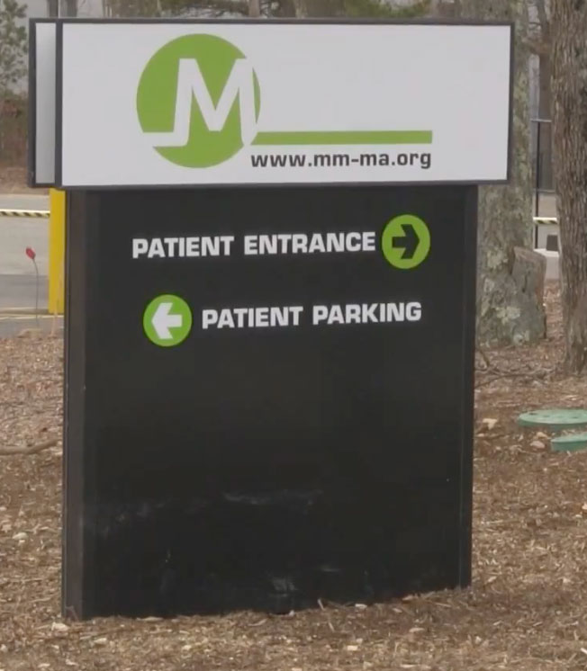 Sign At Counter Triple M Plymouth Dispensary Credit