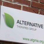 The logo for Alternative Therapies Salisbury marijuana dispensary
