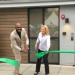 Cutting the green tape at the grand opening of Garden Remedies Melrose marijuana dispensary