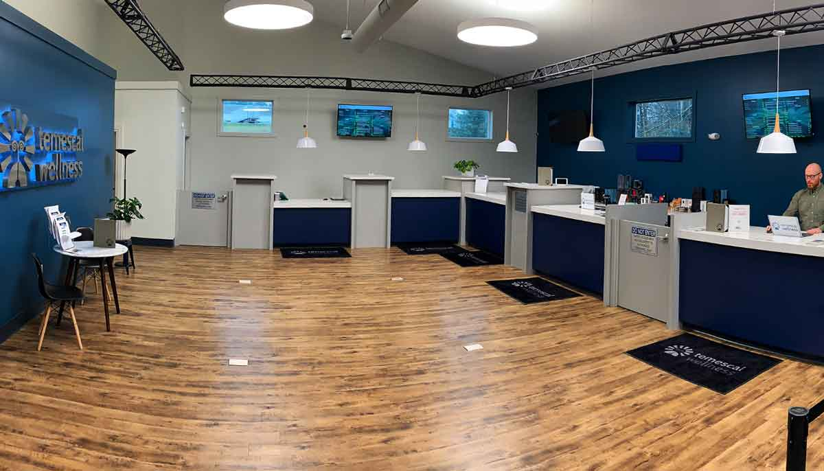 Sales Floor at Temescall Wellness Pittsfield Dispensary - Credit: The Berkshire Eagle
