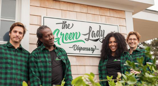 Staff Outside The Green Lady Nantucket Dispensary - Credit: The Business Journals