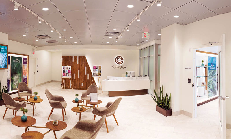 Interior of Columbia Care Manhattan Dispensary - Credit: Columbia Care