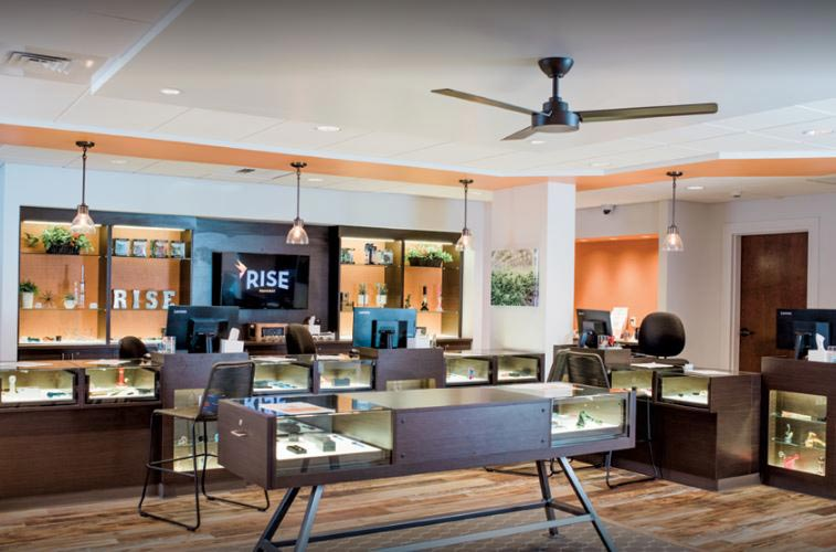 Interior of Rise Amherst Dispensary - Credit: Rise