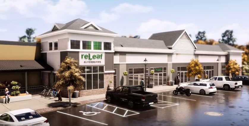 Exterior Of ReLeaf Mansfield Dispensary (Artist Rendering) - Credit: Igor Souza (YouTube User)