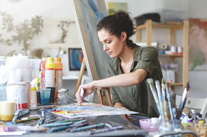 Woman Painting for Strains for Creativity