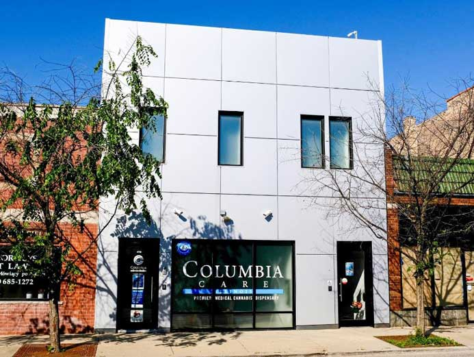 Exterior of Columbia Care's Chicago Albany Park Dispensary - Credit: Columbia Care