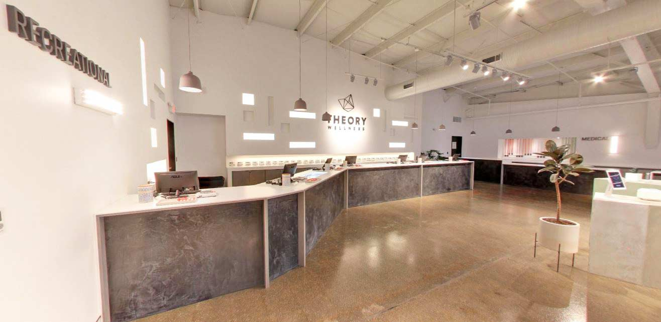 Recreational Sales Counter at Theory's Chicopee Dispensary - Credit: Wayne Goldstein