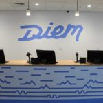 Sales Counter and Logo at Diem Cannabis' Canal District Worcester dispensary - Credit: Diem Cannabis