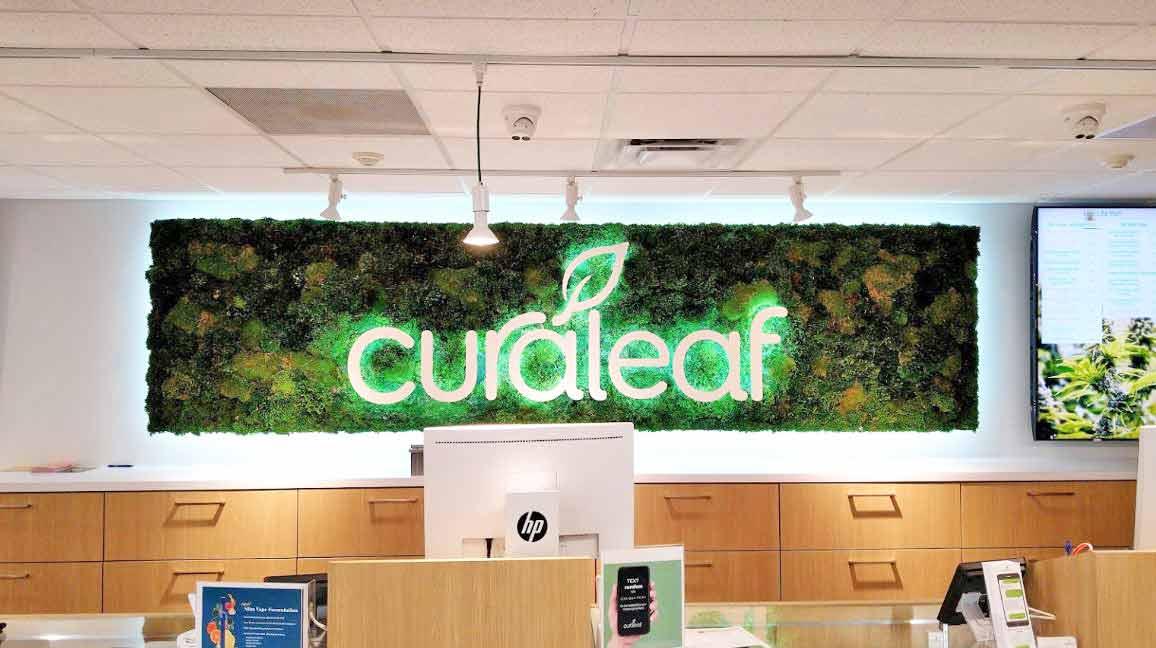 Sales Counter Sign at Curaleaf's Sarasota Dispensary - Credit: D S (Google User)