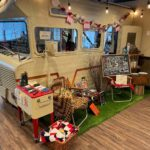 RV Camping Themed Product Display at Campfire Cannabis' West Boylston Dispensary - Credit: Dispensary Genie