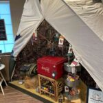 Tent Camping Themed Display at Campfire Cannabis' West Boylston Dispensary - Credit: Dispensary Genie