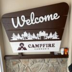 Park Themed Welcome Sign at Campfire Cannabis' West Boylston Dispensary - Credit: Dispensary Genie