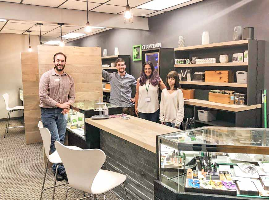 Sales Counter and Staff at Champlain Valley Dispensary of South Burlington - Credit: Champlain Valley Dispensary of South Burlington