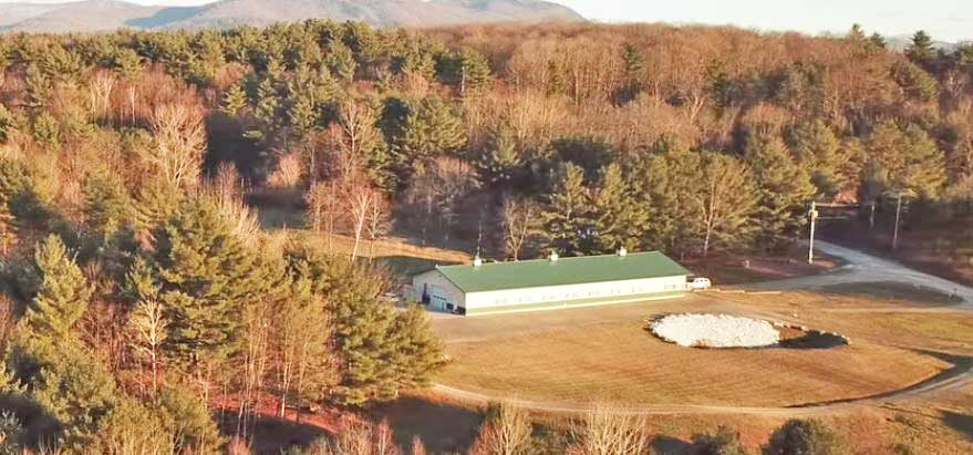 Aerial View of Grassroots Vermont's Brandon Dispensary - Credit: Grassroots Vermont